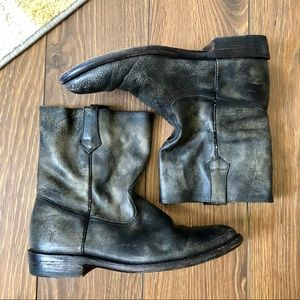Frye Roper Boots in Gray Cowboy Boots Leather
